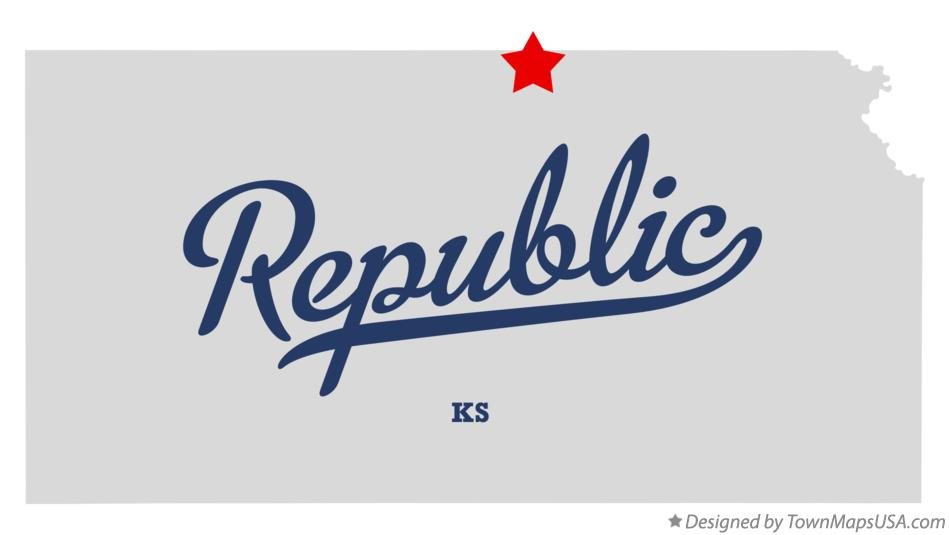 Map of Republic Kansas KS