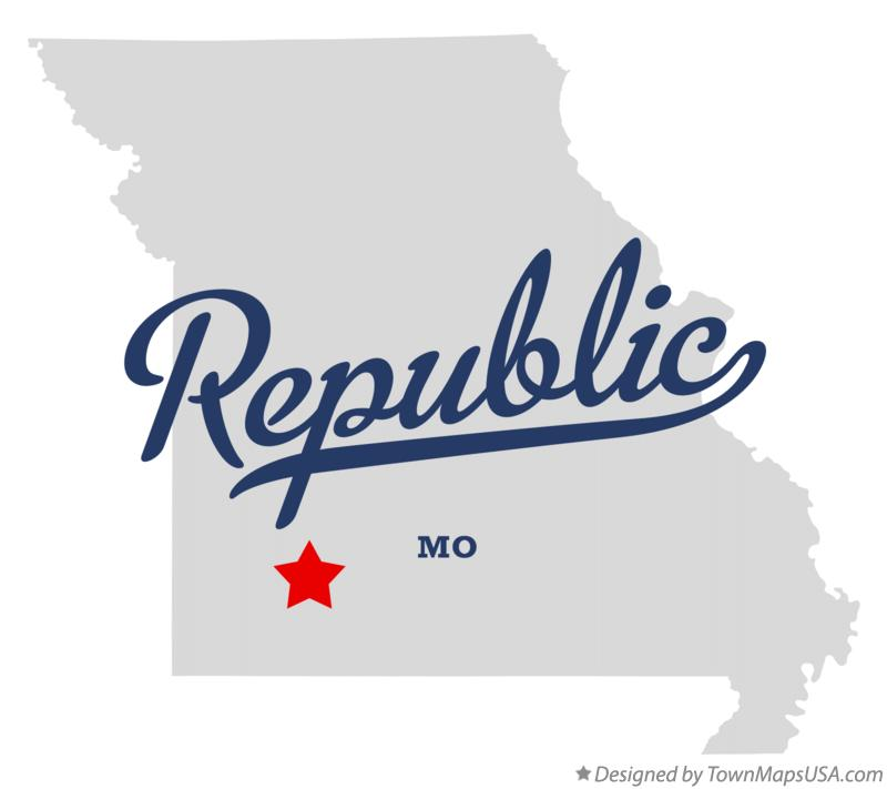 Map of Republic Missouri MO