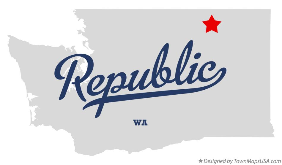 Map Of Republic Wa Washington