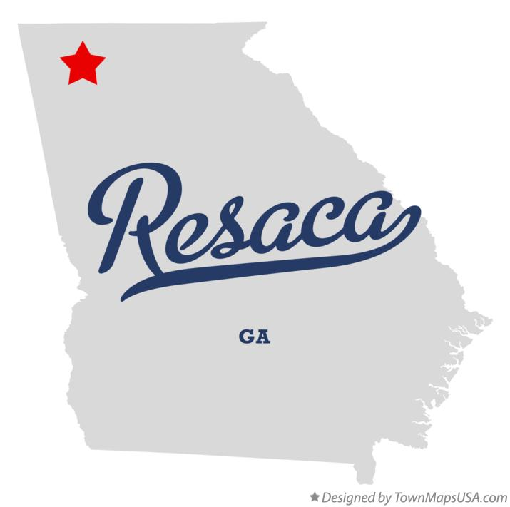 Map of Resaca Georgia GA