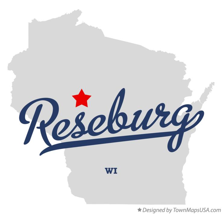 Map of Reseburg Wisconsin WI