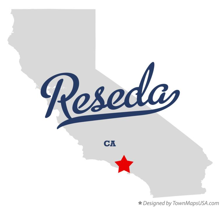 Map of Reseda California CA