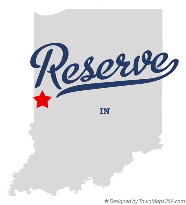 Map of Reserve Indiana IN
