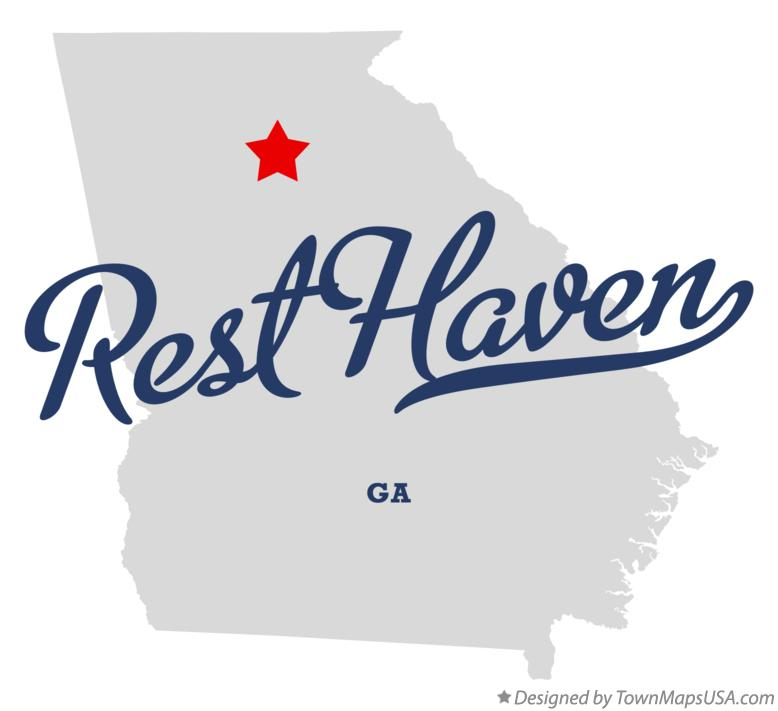 Map of Rest Haven Georgia GA