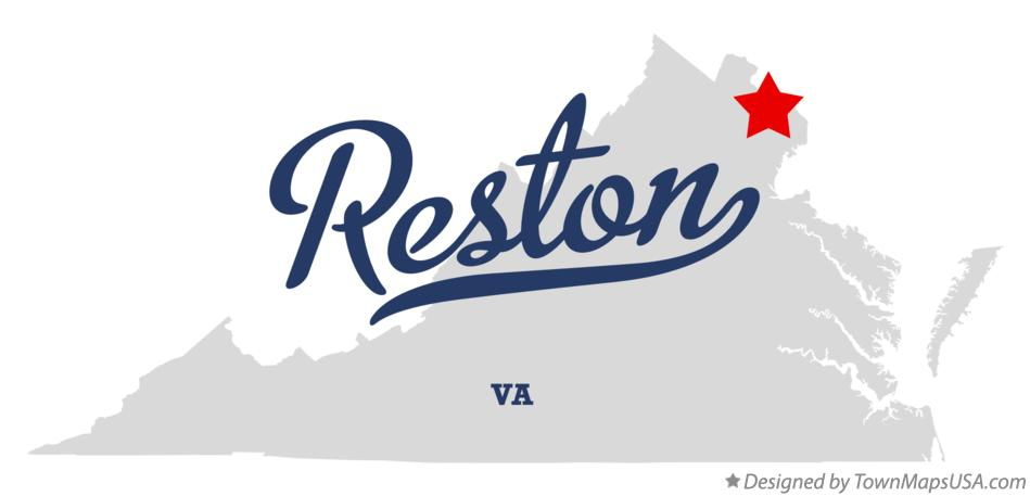 Map of Reston Virginia VA