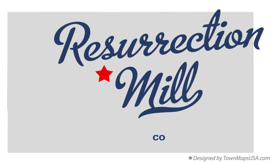 Map of Resurrection Mill Colorado CO