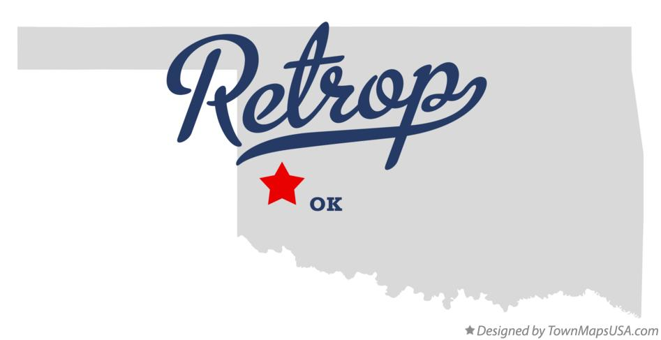 Map of Retrop Oklahoma OK