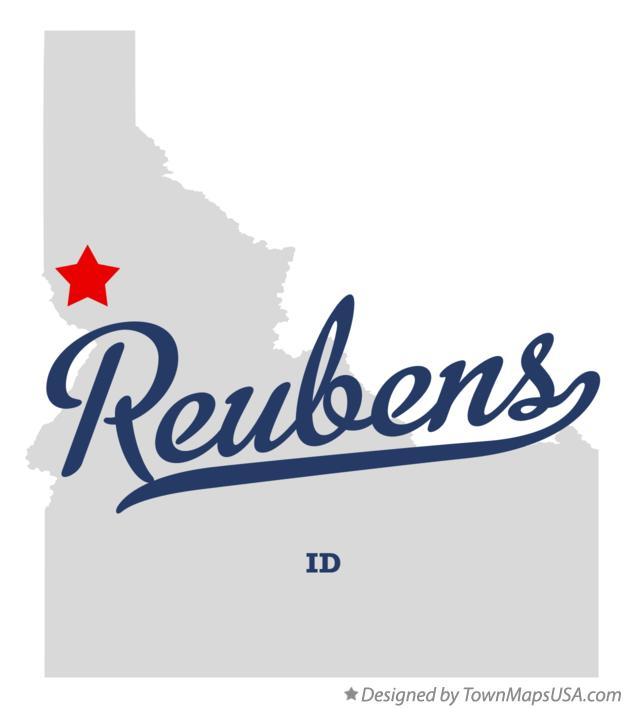Map of Reubens Idaho ID