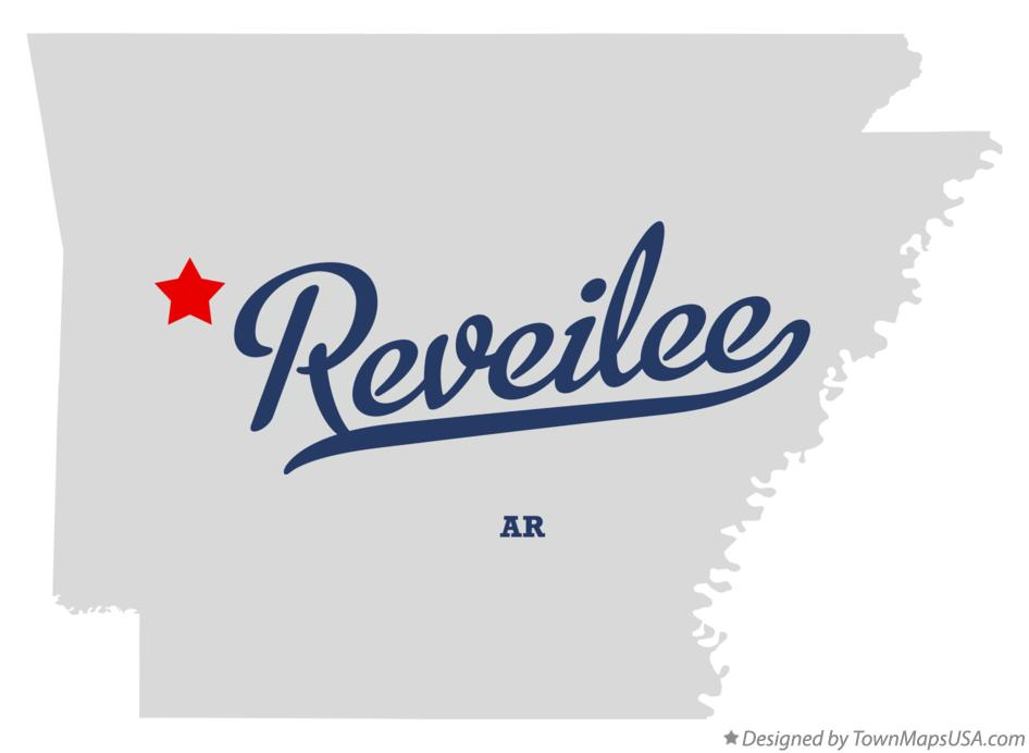 Map of Reveilee Arkansas AR