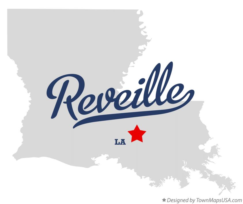 Map of Reveille Louisiana LA