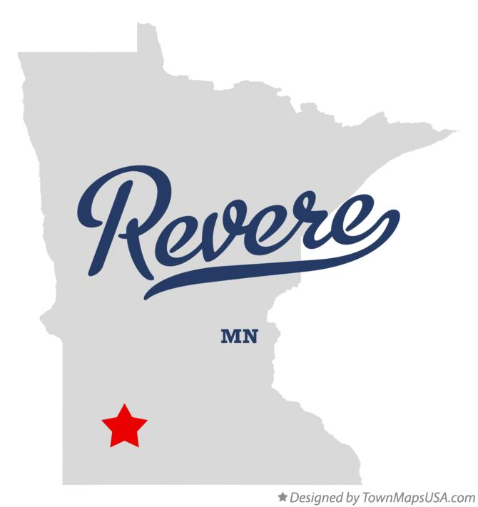 Map of Revere Minnesota MN