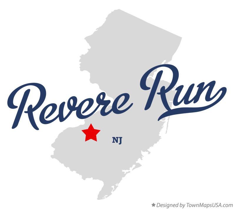 Map of Revere Run New Jersey NJ