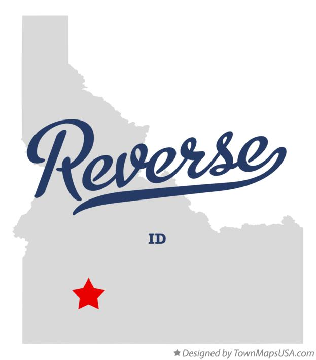 Map of Reverse Idaho ID