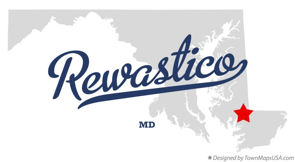 Map of Rewastico Maryland MD