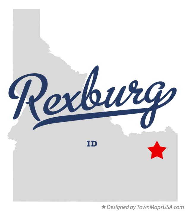 Map of Rexburg Idaho ID