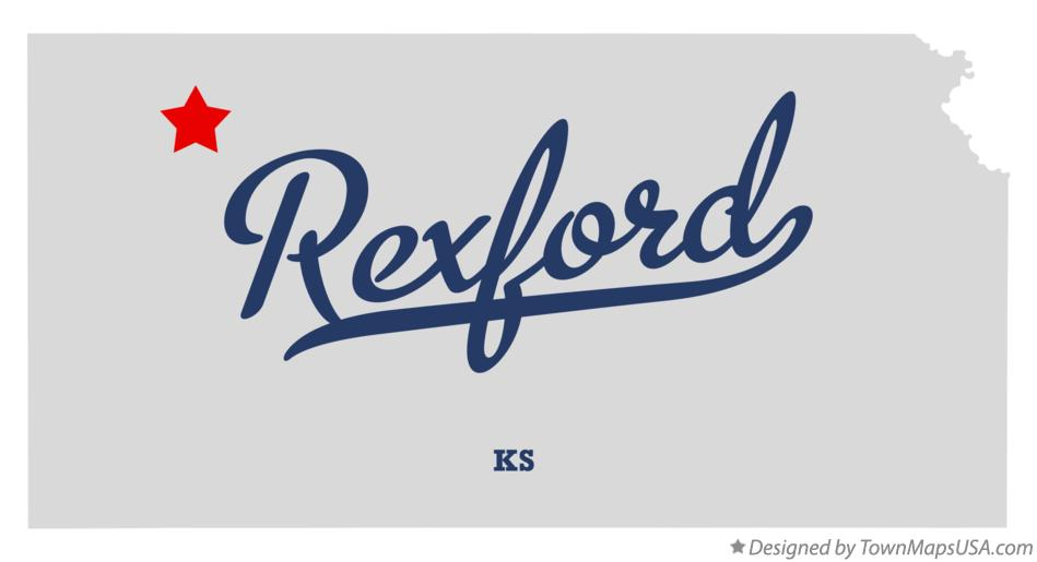 Map of Rexford Kansas KS