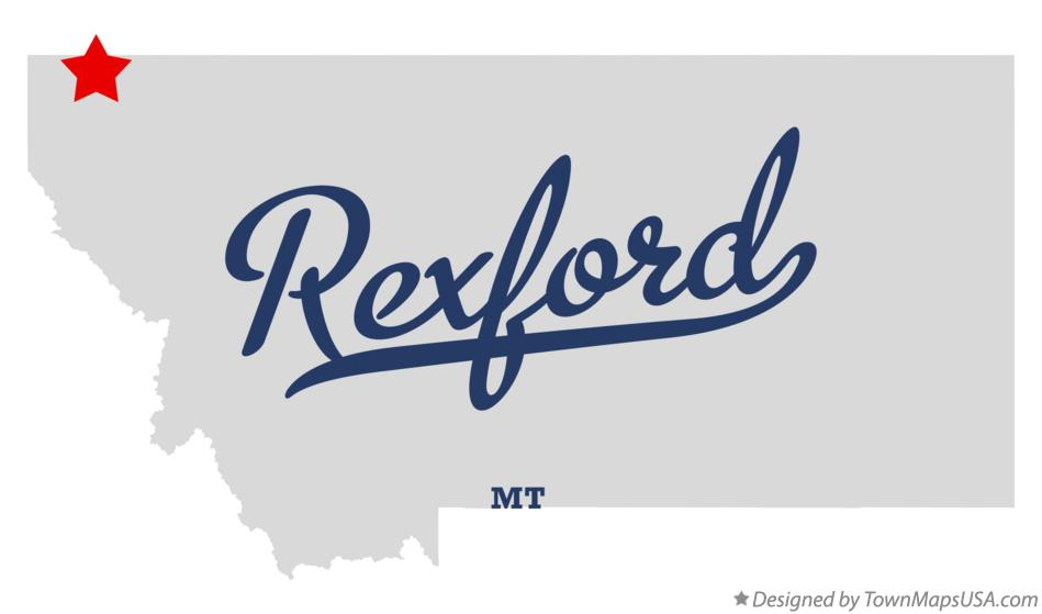 Map of Rexford Montana MT