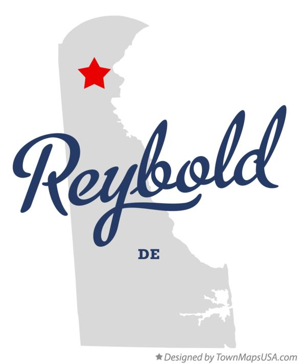 Map of Reybold Delaware DE