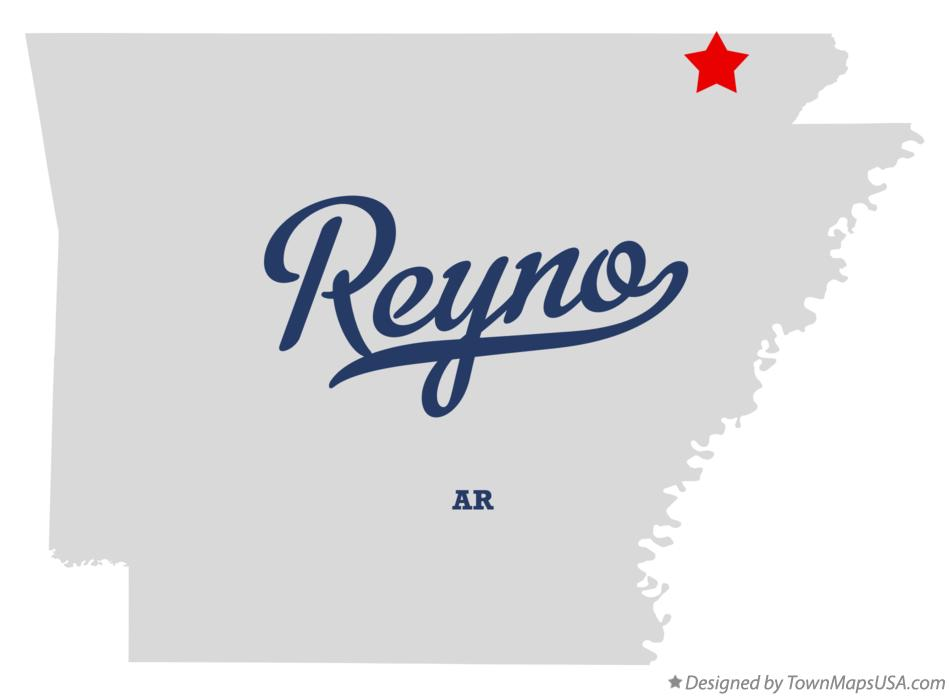 Map of Reyno Arkansas AR