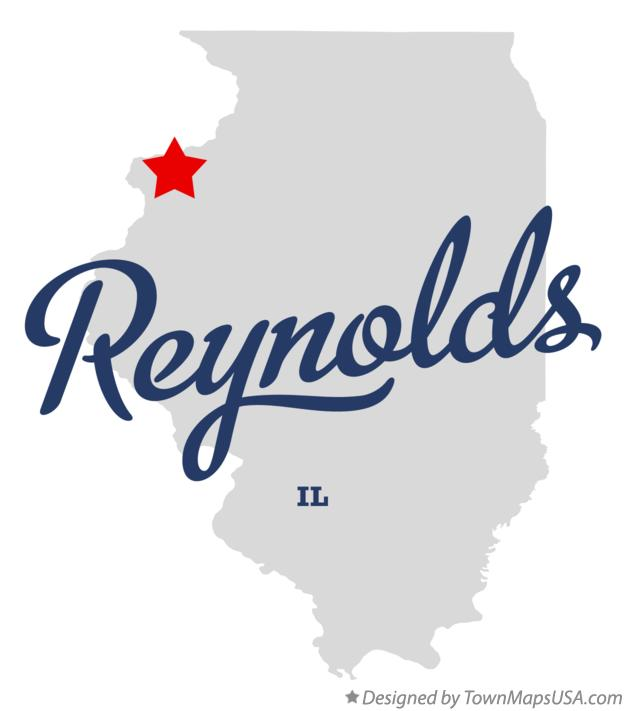 Map of Reynolds Illinois IL