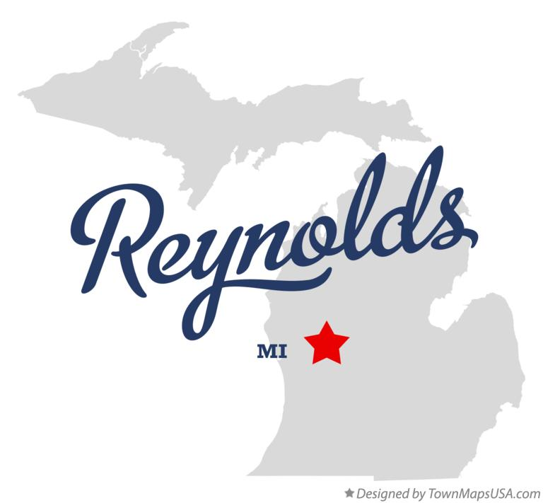 Map of Reynolds Michigan MI