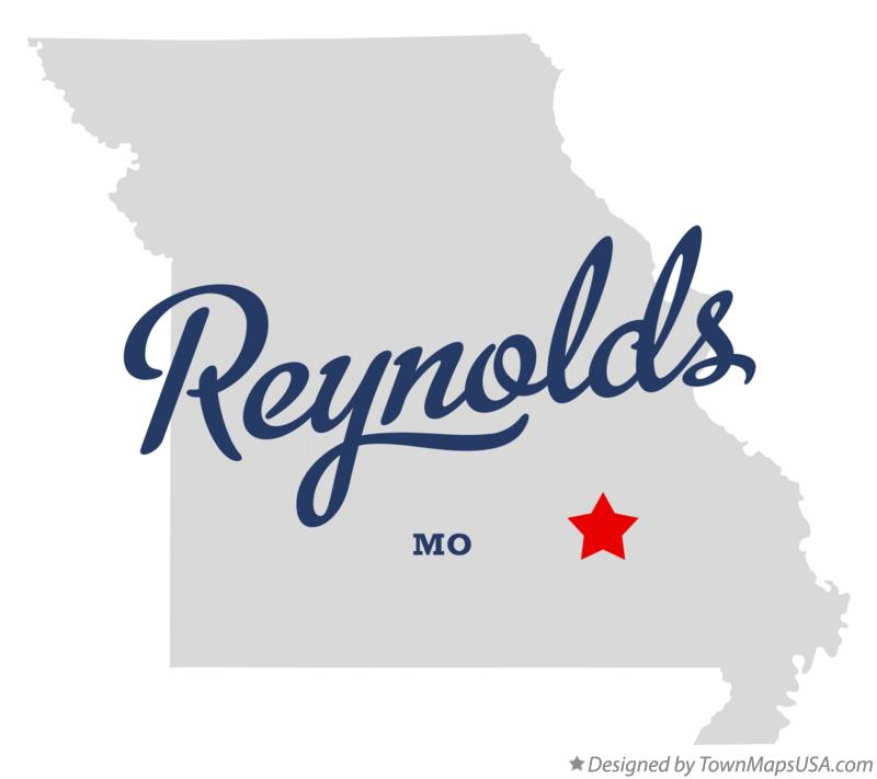 Map of Reynolds Missouri MO