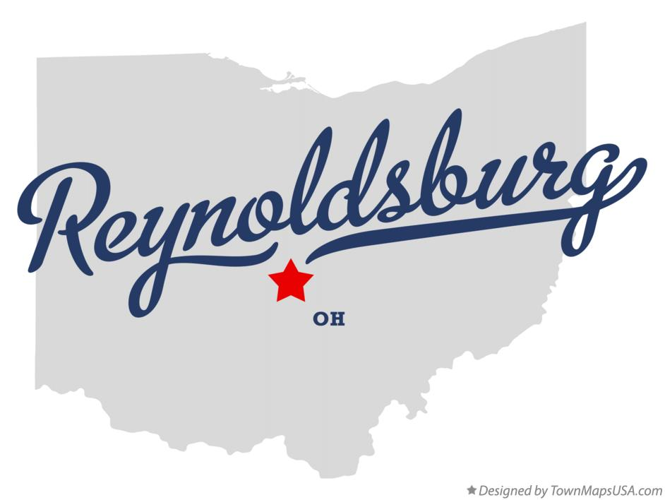 Map of Reynoldsburg Ohio OH