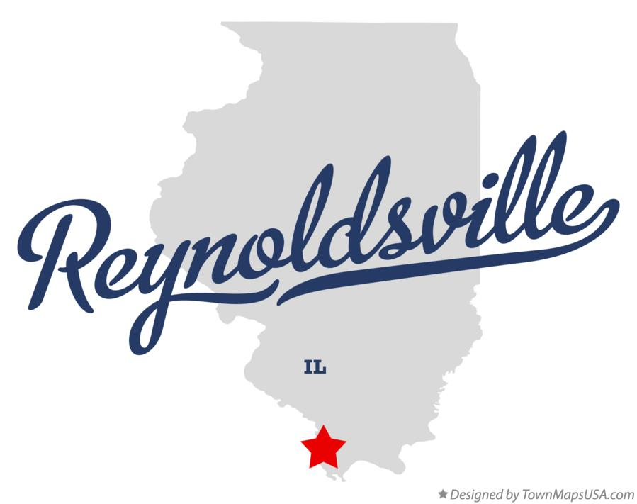 Map of Reynoldsville Illinois IL