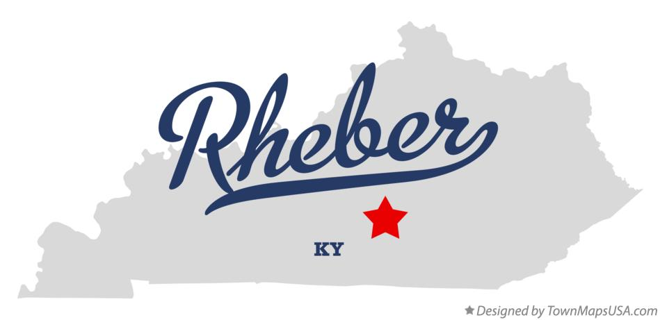 Map of Rheber Kentucky KY
