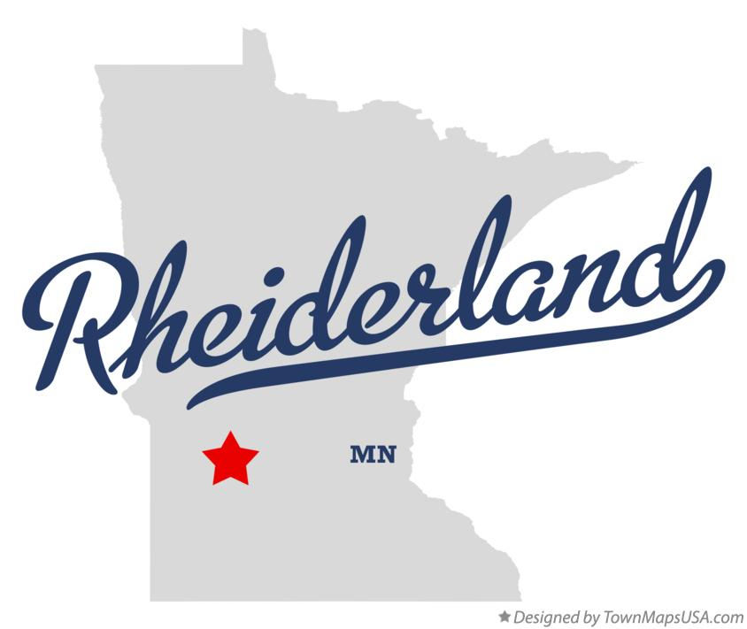 Map of Rheiderland Minnesota MN