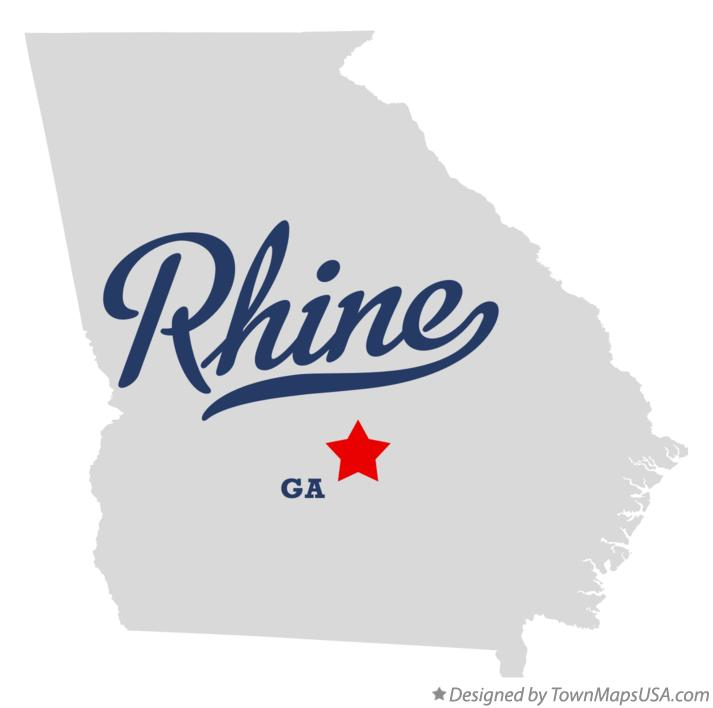Map of Rhine Georgia GA