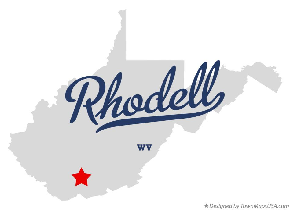 Map of Rhodell West Virginia WV