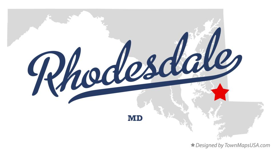 Map of Rhodesdale Maryland MD