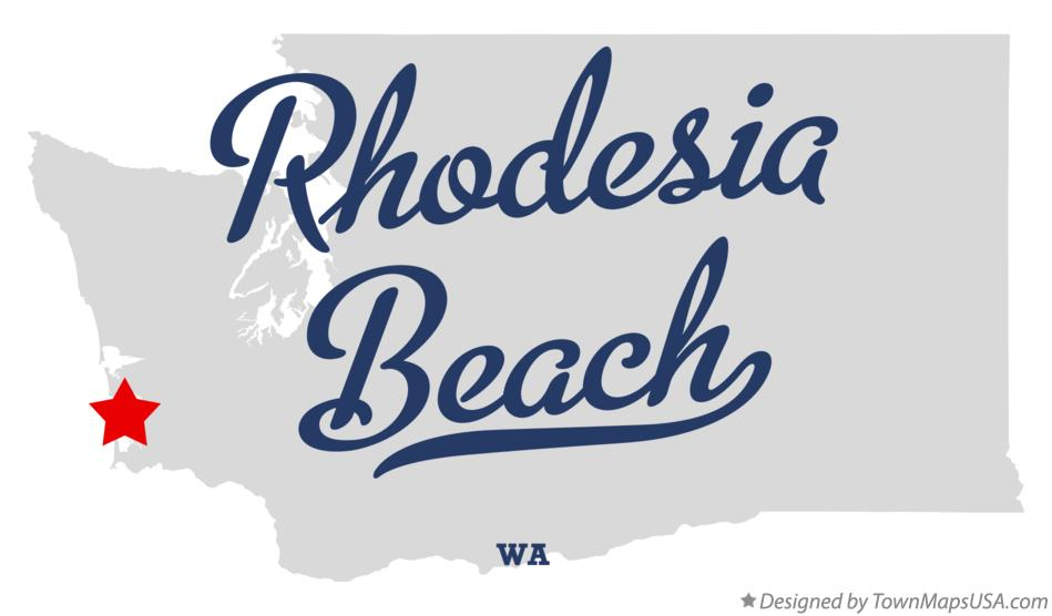 Map of Rhodesia Beach Washington WA