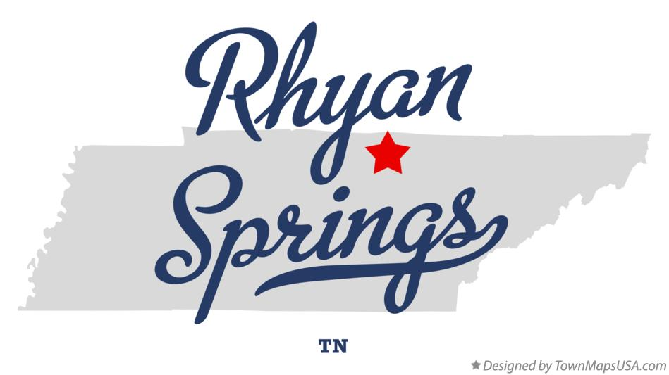 Map of Rhyan Springs Tennessee TN