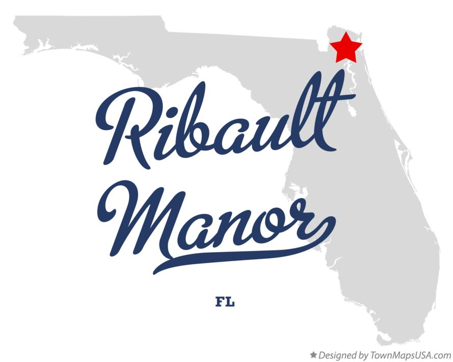 Map of Ribault Manor Florida FL