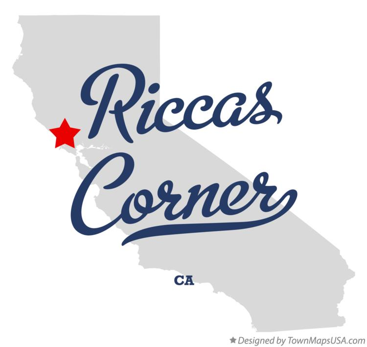 Map of Riccas Corner California CA