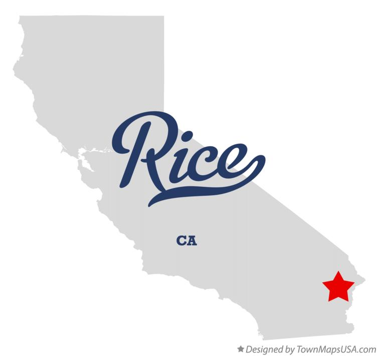 Map of Rice California CA