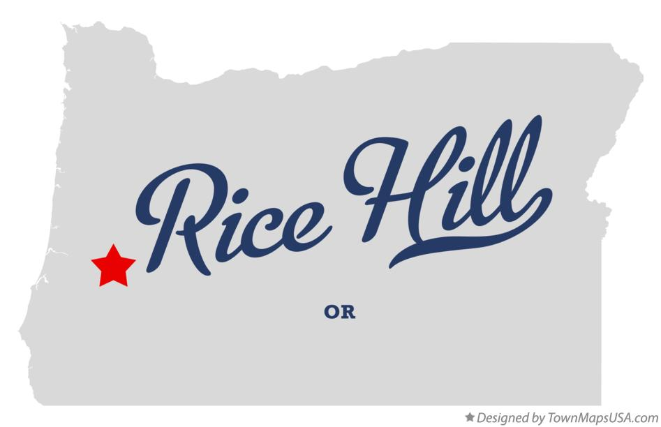 Map of Rice Hill Oregon OR