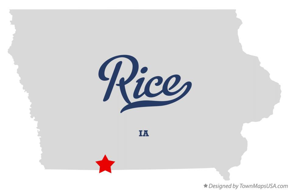 Map of Rice Iowa IA
