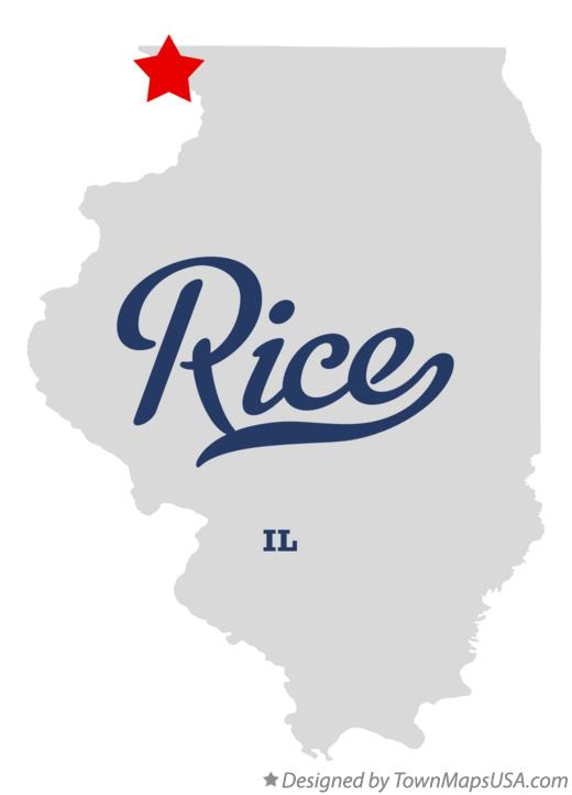 Map of Rice Illinois IL