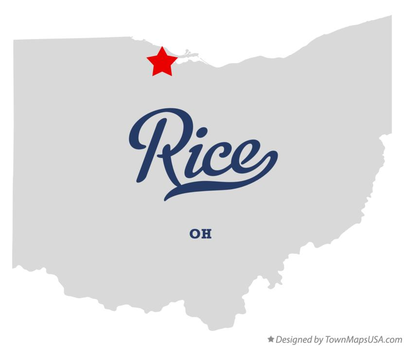 Map of Rice Ohio OH