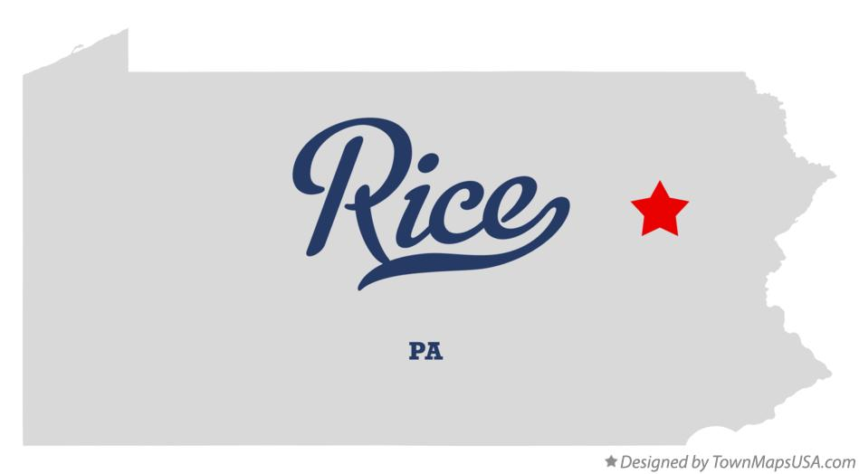 Map of Rice Pennsylvania PA