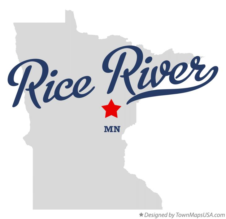 Map of Rice River Minnesota MN