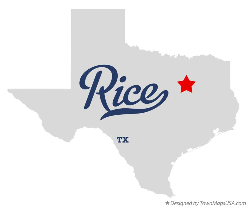 Map of Rice Texas TX