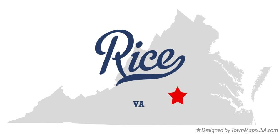 Map of Rice Virginia VA