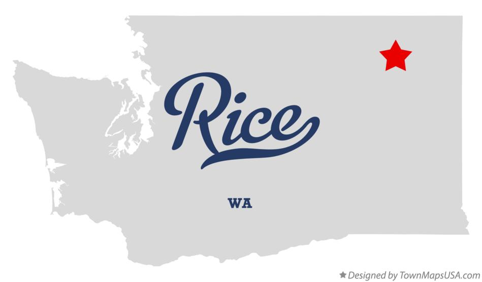Map of Rice Washington WA