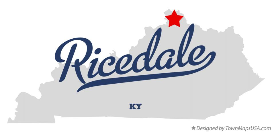 Map of Ricedale Kentucky KY