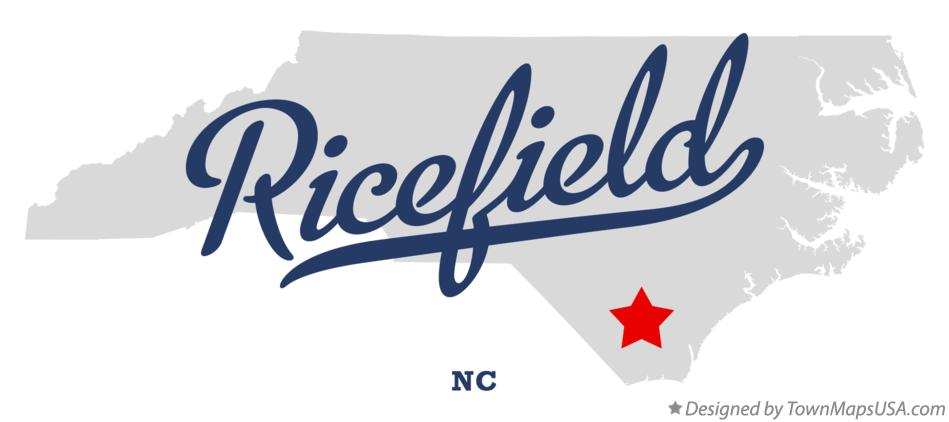 Map of Ricefield North Carolina NC