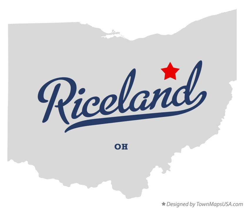 Map of Riceland Ohio OH
